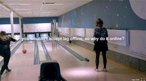 ↑ 最後に「実社会ではラグなど受け入れられるはずもありませんね。それではオンラインではどうでしょう?」とのメッセージ