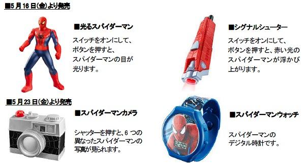 ↑ アメイジング・スパイダーマン2のおもちゃ