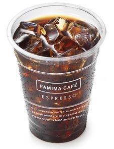 ↑ FAMIMA CAFE アイスコーヒーのSサイズ