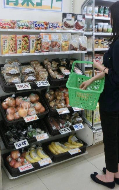 ↑ 野菜販売専用の常温ゴンドラ(例)