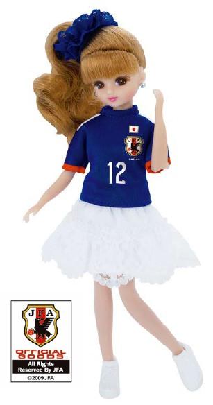 ↑ サッカー日本代表チームモデル リカちゃん 2014