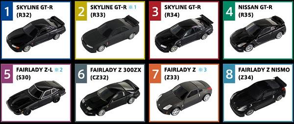 ↑ 「攻メノ日産名車GT-R・Fairlady Z ブラックカーコレクション」