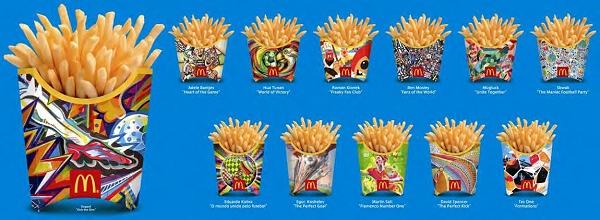 ↑ 展開される12種類のオリジナルパッケージ。左の大きく表示されているデザインは日本の「Doppel」作
