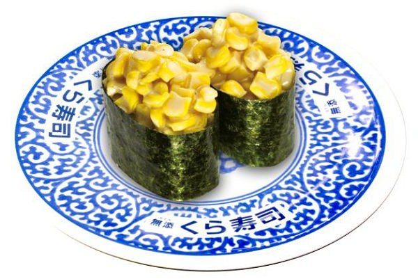 ↑ キャラメルバナナ寿司(上)とキャラメルコーンマヨ(下)