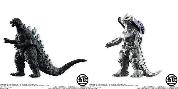 ↑ 左から「ゴジラ2004」「3式機龍(メカゴジラ)」