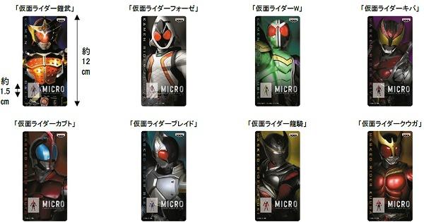 ↑ MICRO 仮面ライダーシリーズvol.1背台紙とブリスター