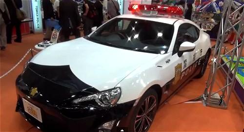 ↑ 先日開催されたおもちゃショーにも登場した、実車版の「トミカ警察 トヨタ86パトロールカー」。