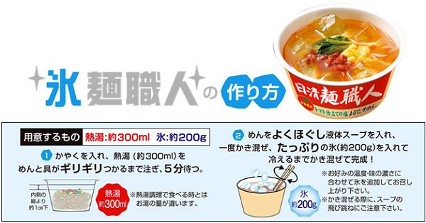 ↑ 氷麺職人の作り方