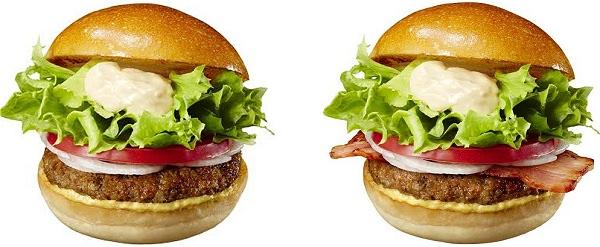 ↑ 「絶妙ハンバーガー」と「絶妙BLTバーガー」