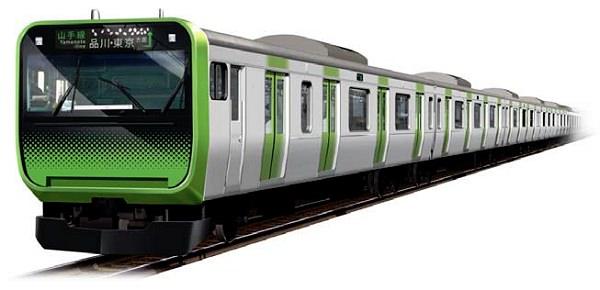↑ 新型通勤電車E235系量産先行車外観