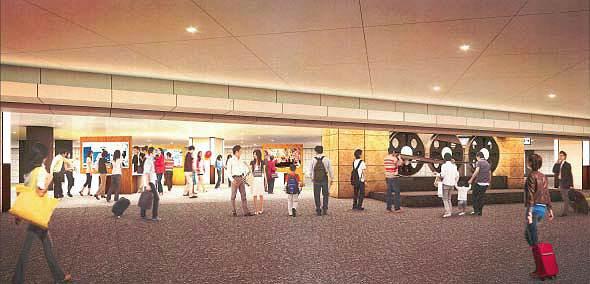 ↑ 動輪モニュメント移設後のイメージ(地下南口待合広場)