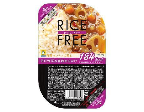 ↑ ライス・フリー 五目野菜の黒酢あんかけ
