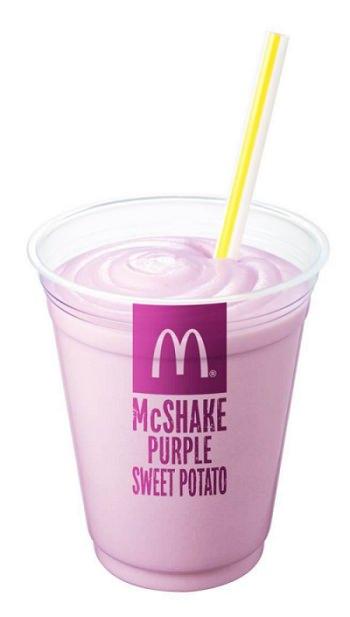 ↑ マックシェイク 紫いも