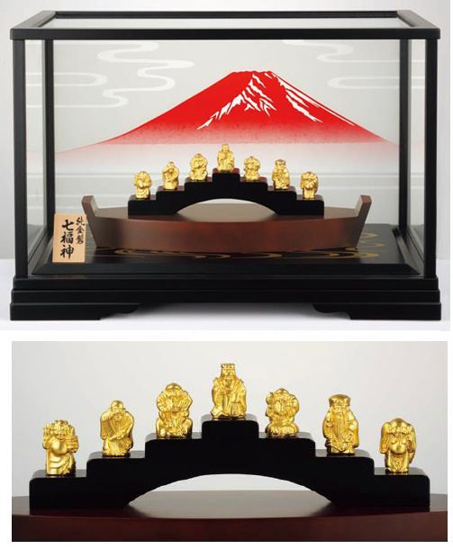 ↑ 純金製置物 七福神