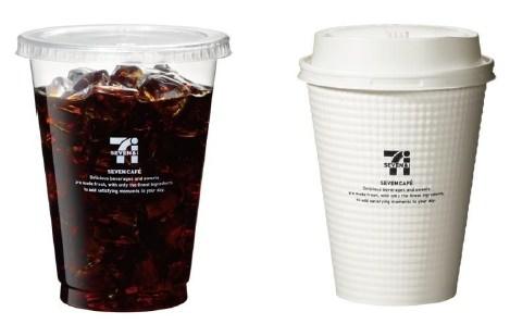 ↑ 左からアイスコーヒー、ホットコーヒー例