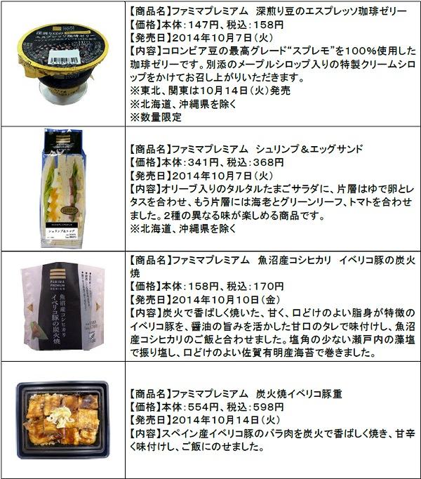 ↑ ファミマプレミアム 新商品ラインアップ