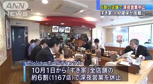 ↑ すき家の発表を伝える報道映像