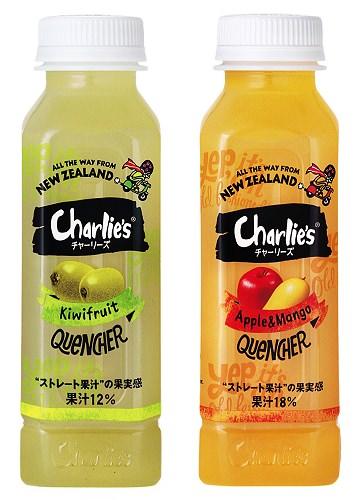 ↑ チャーリーズ キウイ PET330ml/アップル&マンゴー PET330ml
