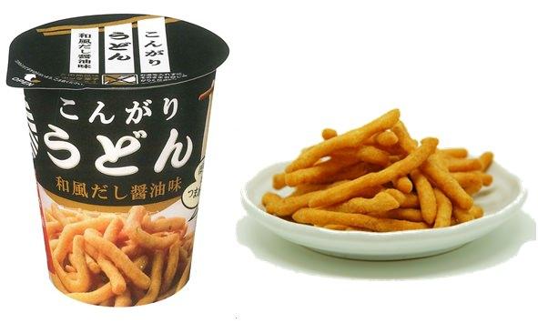 ↑ こんがりうどん和風だし醤油味