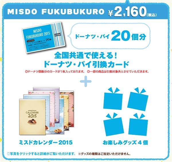 ↑ ミスド福袋(青・2160円(税込))