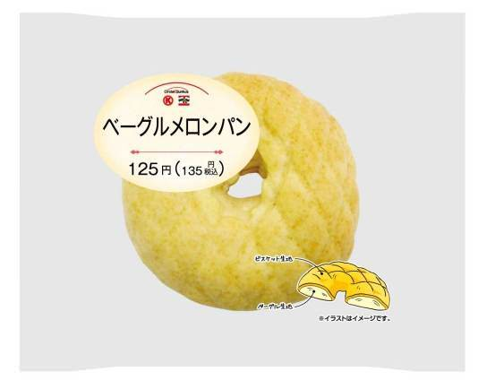 ↑ ベーグルメロンパン・商品パッケージ