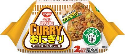 ↑ 冷凍 日清 カップヌードルおにぎり カレー 2個入