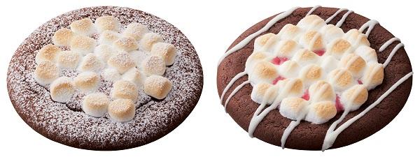 ↑ 左からピッツァ・チョコラータ、ピッツァ・ストロベリー