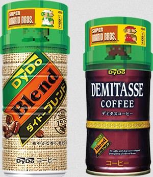 ↑ キャンペーン対象商品「ダイドーブレンド ブレンドコーヒー」「ダイドーブレンド デミタスコーヒー」にフィギュアがセットされている様子