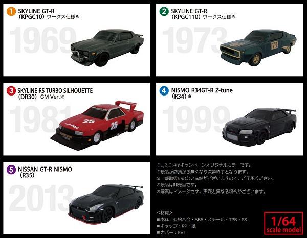 ↑ 「CC BLACK無糖×NISSANワークス PREMIUM Collection」ラインアップは5種類