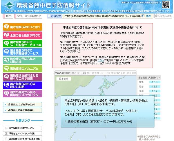 ↑ 環境省熱中症予防情報サイト